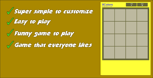 CodeCanyon 8Colors Memory Game 9875357