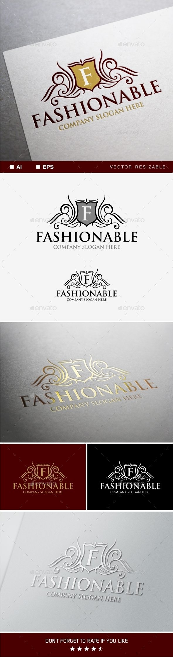 GraphicRiver Fashionable Logo Template 9909769
