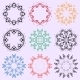 Set of Colored Round Ornaments - GraphicRiver Item for Sale