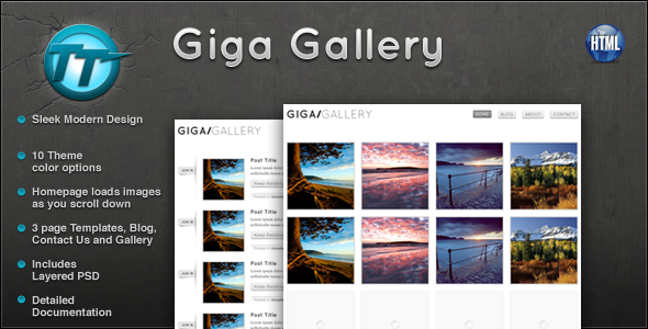 Giga Gallery HTML Template