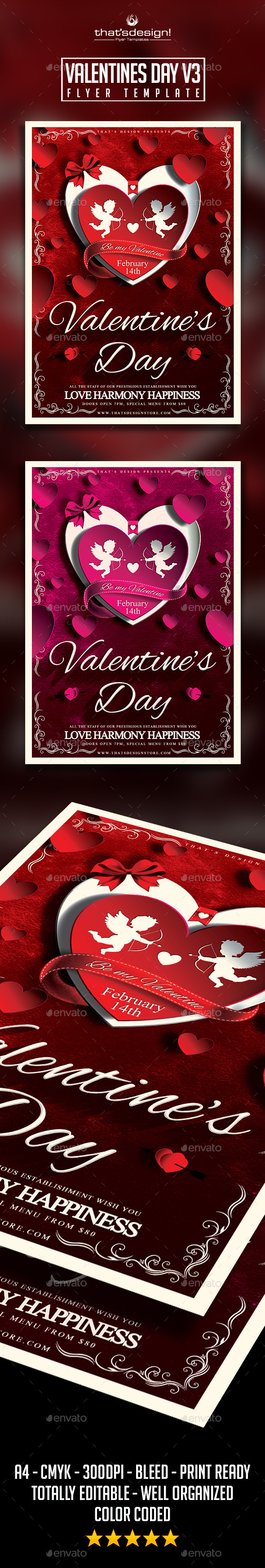 GraphicRiver Valentines Day Flyer Template V3 9897036