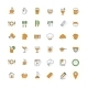 Food and Restaurant Flat Design Icon Set - GraphicRiver Item for Sale
