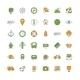 Travel and Transportation Flat Design Icon Set