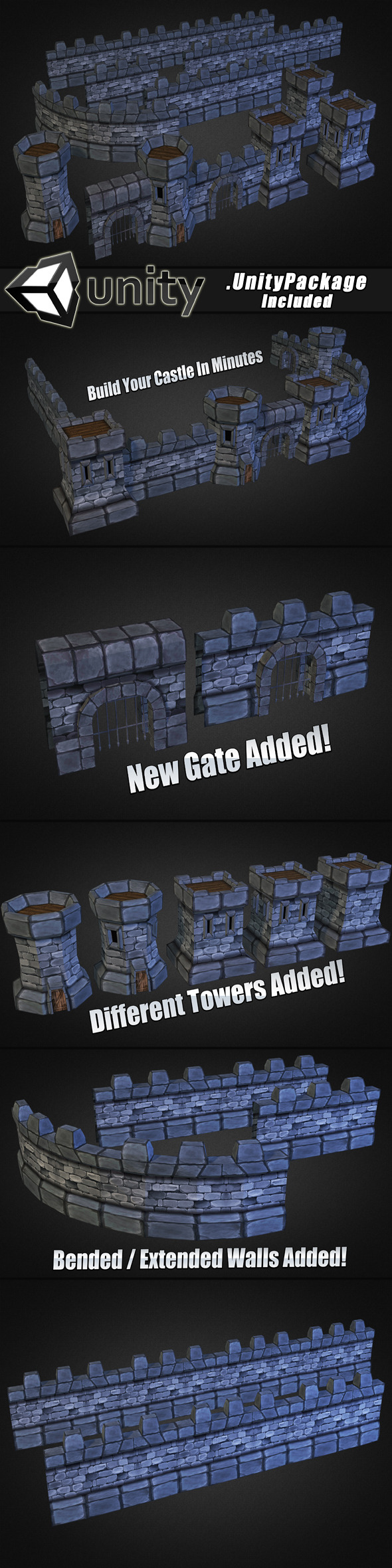 Medieval Stone Castle Pack - 3DOcean Item for Sale