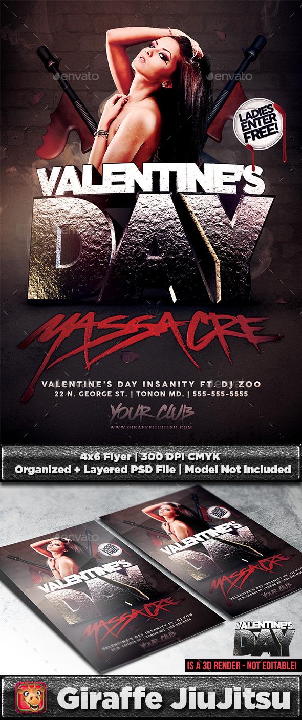 GraphicRiver Valentine s Day Massacre Flyer Template 9894426