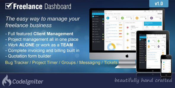 CodeCanyon Freelance Dashboard Project Management CRM 9828734