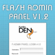 FLASH ADMIN PANEL v1.0 - ActiveDen Item for Sale