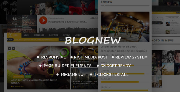 ThemeForest Blog News Wordpress Responsive Magazin Themes 7814437