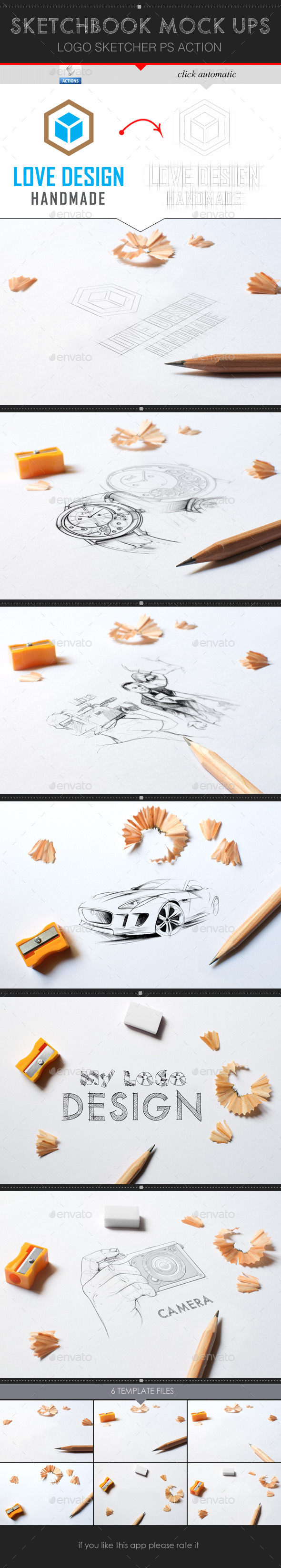 GraphicRiver Sketchbook Mock-Up 9910621