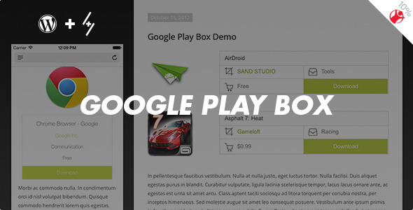 Google Play Box Review boxes maker for WordPress