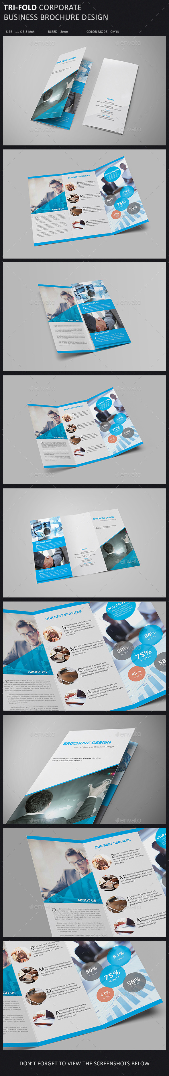 GraphicRiver Tri-Fold Brochure Template 9865522