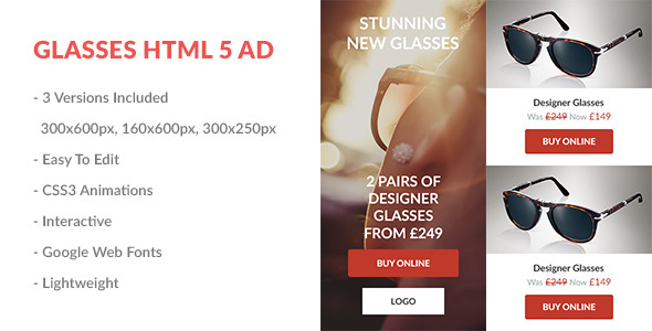 CodeCanyon Glasses HTML5 Ad 9910680