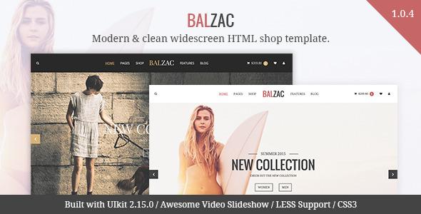 Balzac Modern eCommerce HTML5 CSS3 UIkit