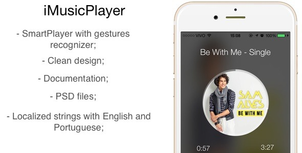 CodeCanyon Mobile iMusicPlayer with Gesture Recognizers 9868085