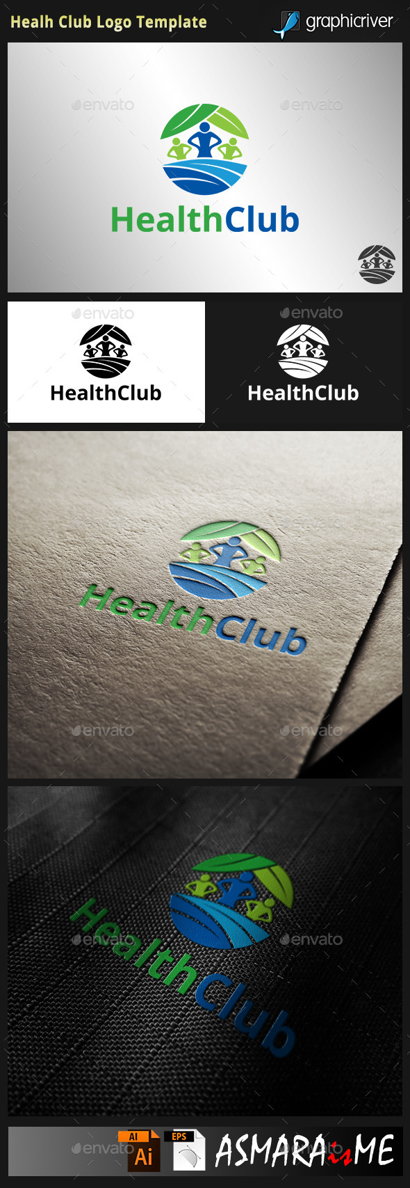 GraphicRiver Health Club Logo 9910708