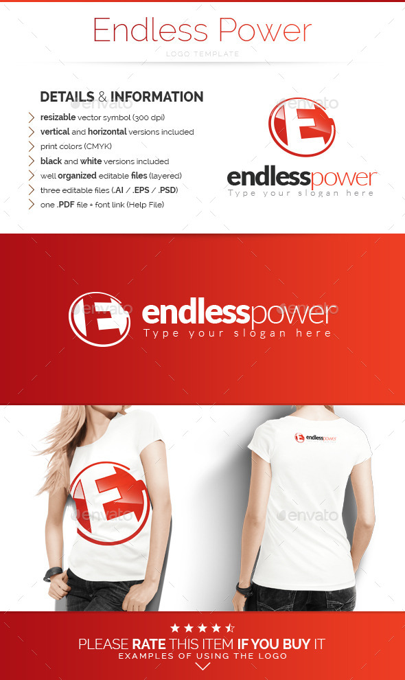 GraphicRiver Endless Power Logo Template 9910749