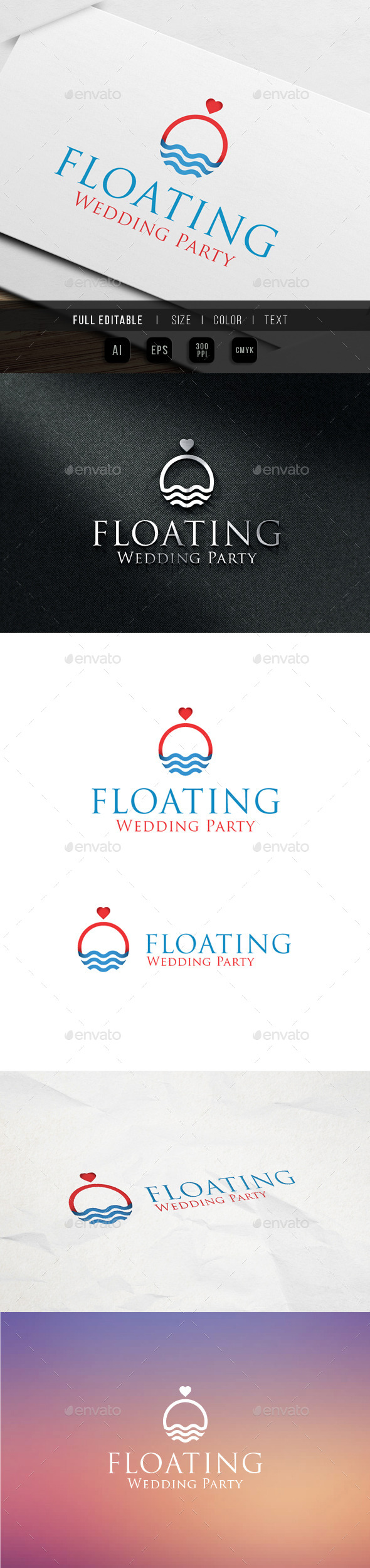 GraphicRiver Floating Wedding Events & Party 9895520