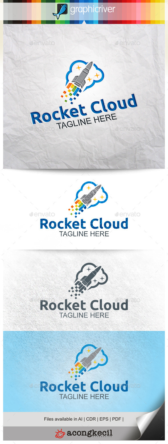 GraphicRiver Rocket Cloud 9911042