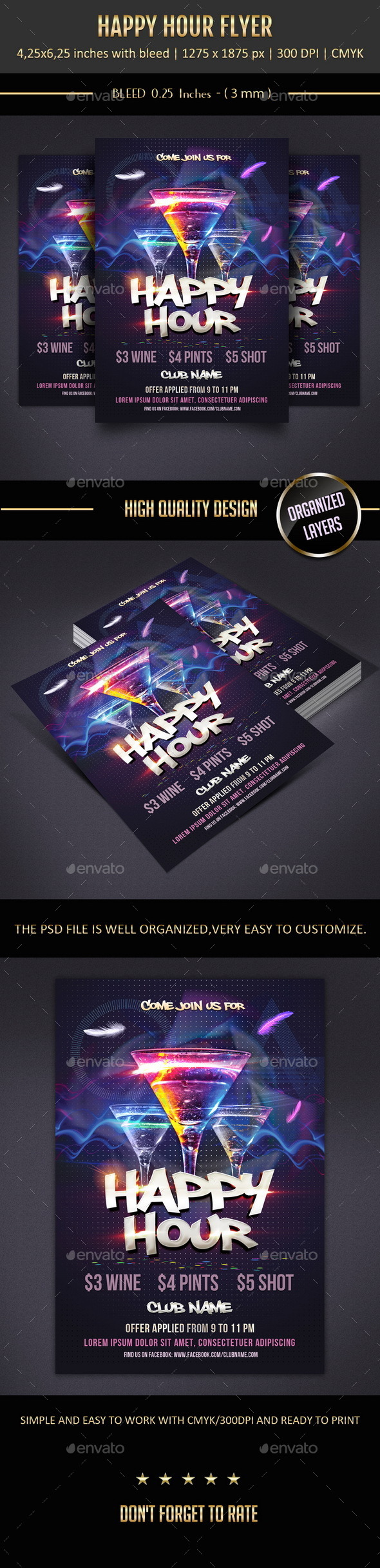 GraphicRiver Happy Hour Flyer 9911119