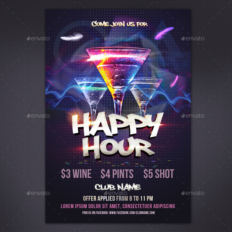 Elegant Logos For College: Happy Hour Flyer By Rembassio