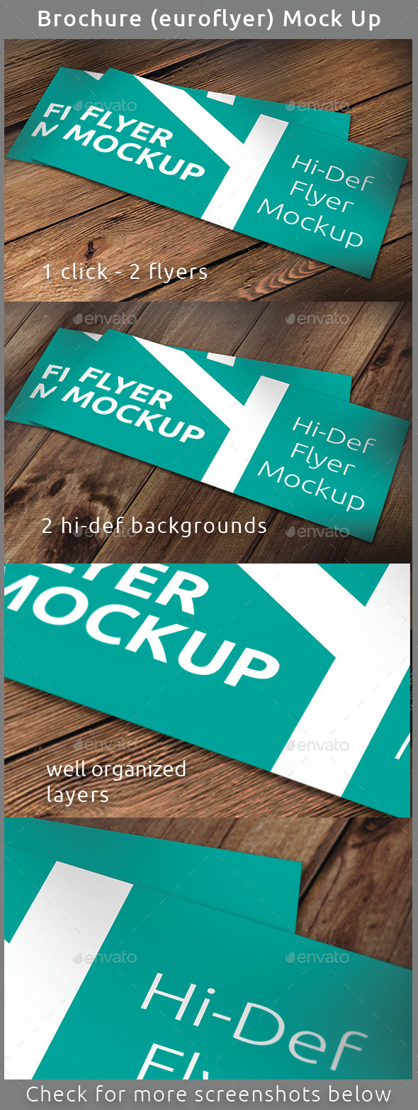 GraphicRiver Realistic Brochure Flyer Mock-Up 9911121