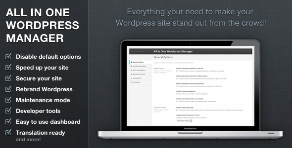 CodeCanyon All In One Wordpress Manager 9911138