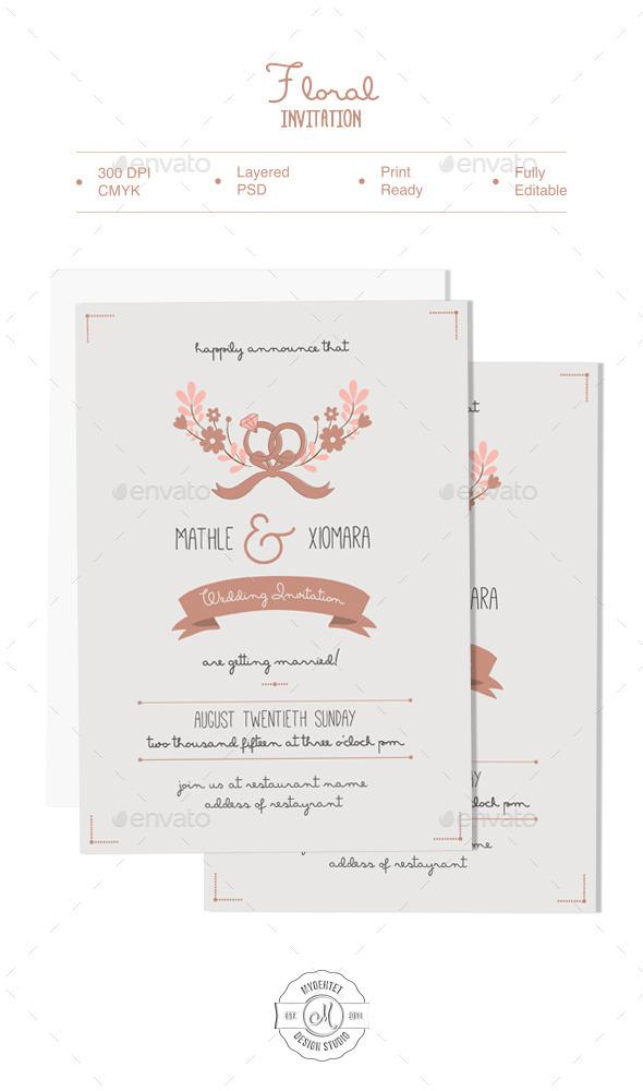 GraphicRiver Floral Invitation 9879594