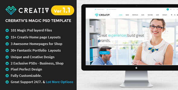 ThemeForest Creativ Clean Multipurpose PSD Template 9871906