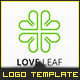 Clover Love Line - Logo Template - GraphicRiver Item for Sale