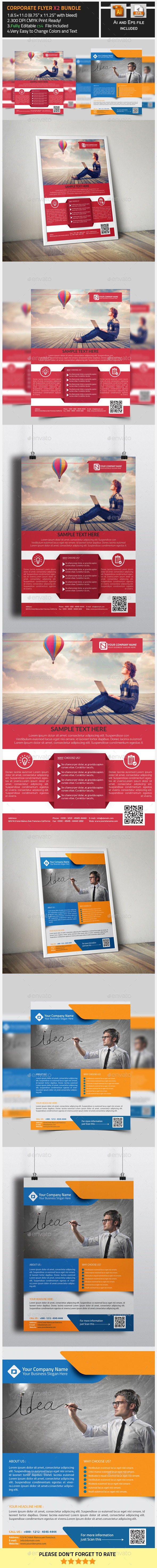 GraphicRiver Corporate Flyers X2 Bundle 9911404