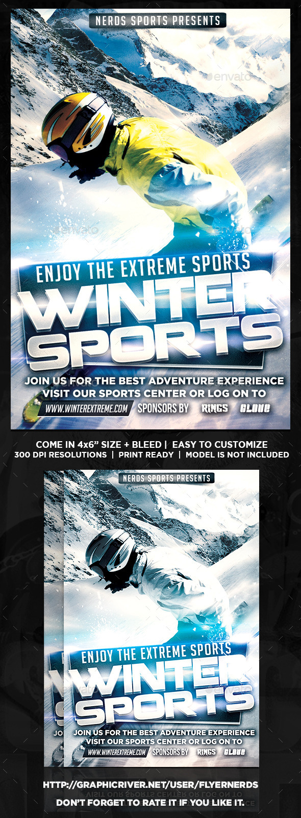 GraphicRiver Extreme Winter 2K15 Sports Flyers 9911508