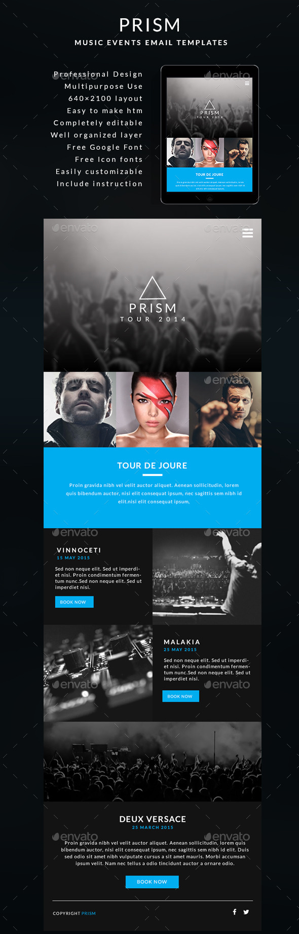 Music Events Email Template - PRISM