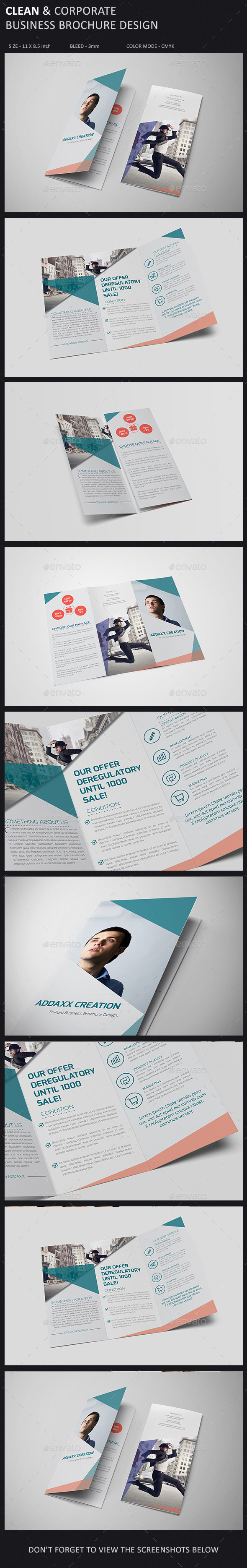 GraphicRiver Clean and Corporate Brochure Template 9911612