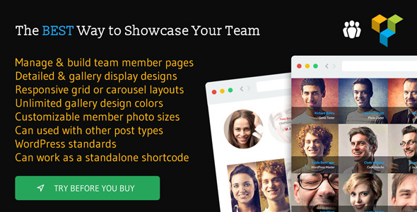 Meet the Team Shortcode for Visual Composer