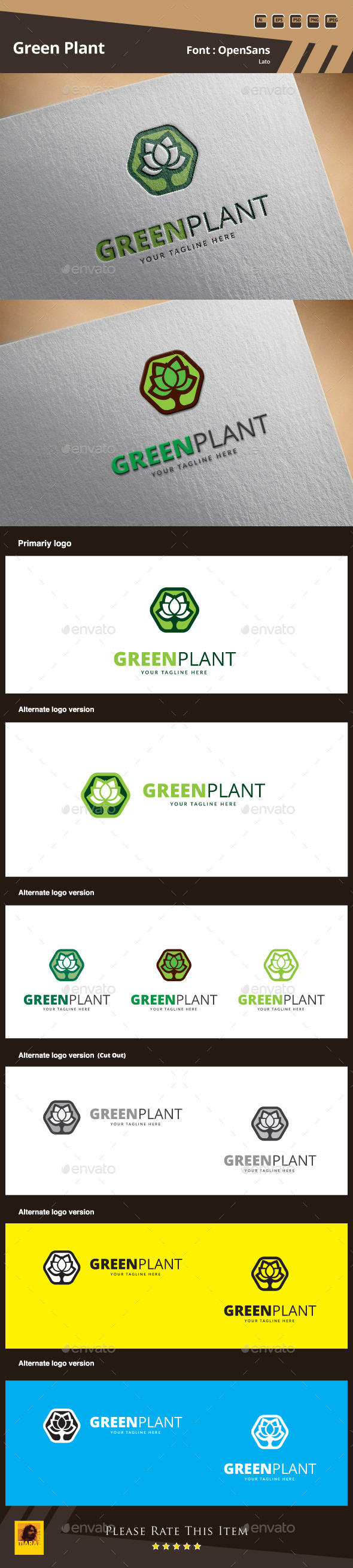 GraphicRiver Green Plant Logo Template 9912229