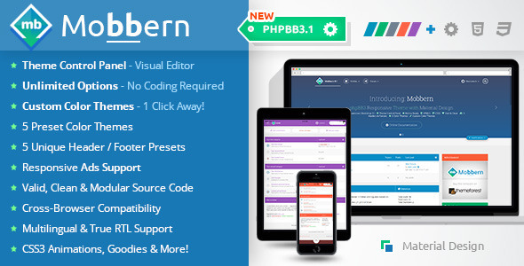 Mobbern phpBB3 & phpBB3.1 Responsive Theme
