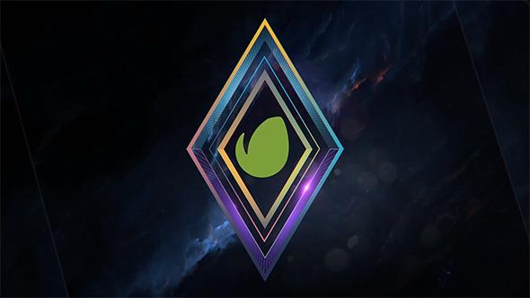 Elegant Glitchy Geometric Logo Opener