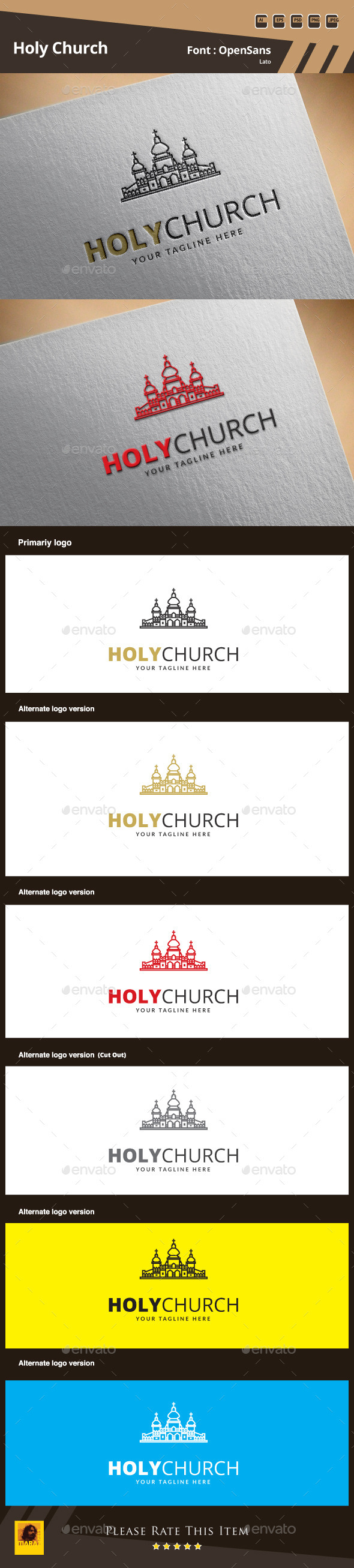 GraphicRiver Holy Church Logo Template 9912342