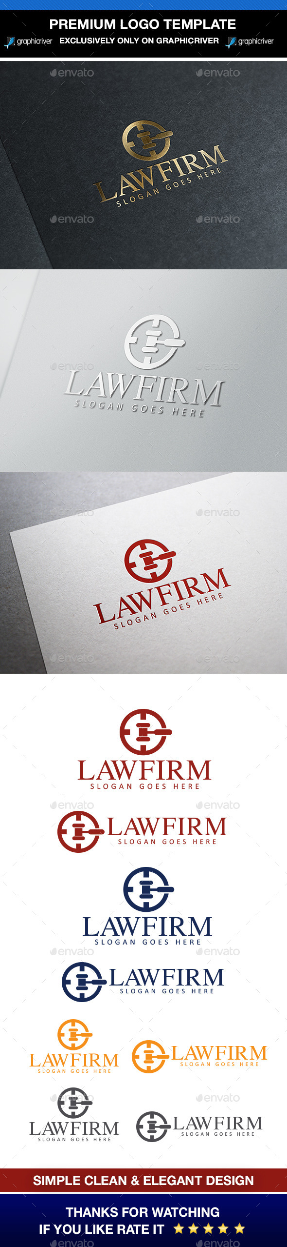 GraphicRiver Law & Attorney Logo 9912581