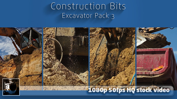 Construction Bits 7 - Excavator Pack 3