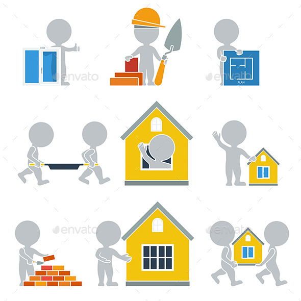 GraphicRiver Flat People Construction 9912746