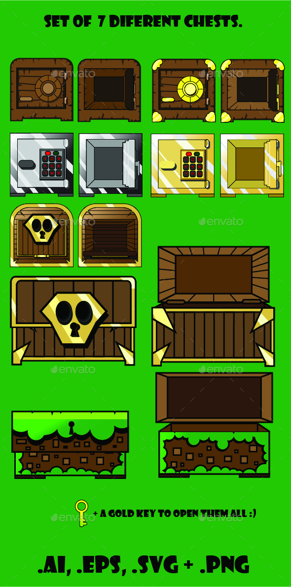 GraphicRiver 7 Chests for any Game 9840011