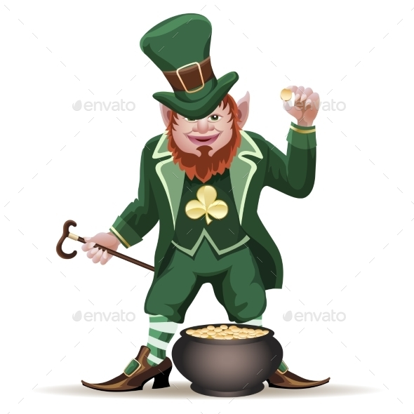 Leprechaun with a Cauldron