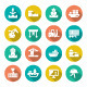 Set Flat Icons of Seaport - GraphicRiver Item for Sale