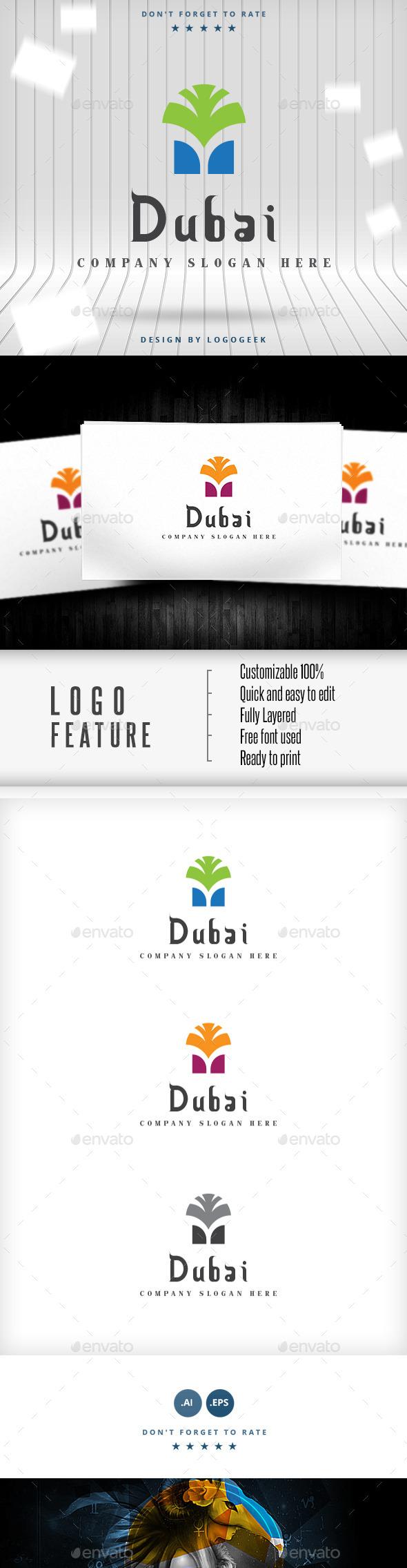 GraphicRiver Dubai Logo 9913353
