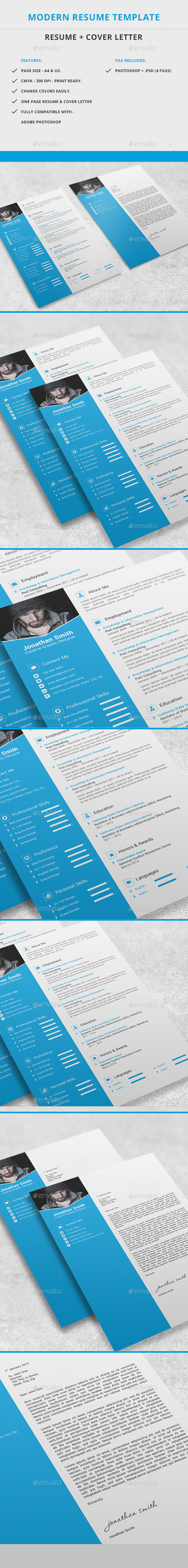 GraphicRiver Modern Resume Template 9902248