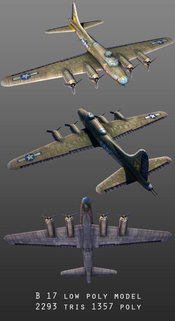3DOcean B-17 9913625