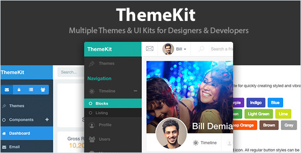 ThemeKit - Multiple Themes & UI Framework - Admin Templates Site Templates