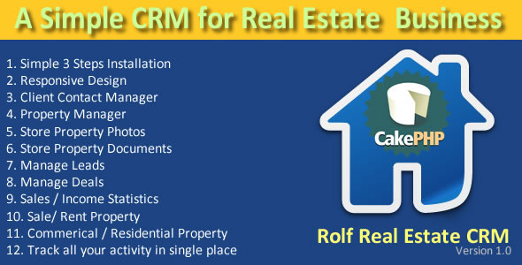 CodeCanyon Rolftask Real Estate CRM 9913892