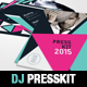 Geometric Dj and Musician Presskit Template